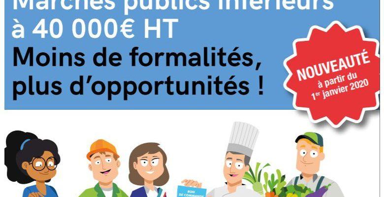 Les marchés publics inférieurs à 40 000 €uros HT, des opportunités d'affaires